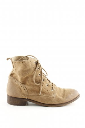 Cox Lace-up Boots natural white-brown casual look