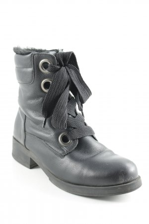 Cox Lace-up Boots black casual look