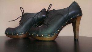 Cox Schuhe Leder Neu ohne Etikett Originalkarton Schwarz