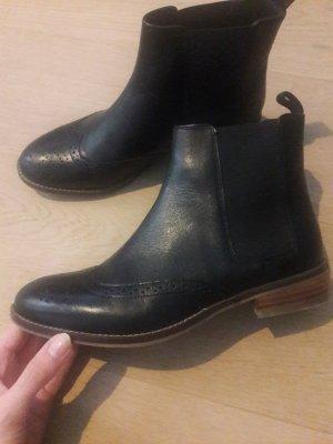Cox Slip-on Booties black-brown