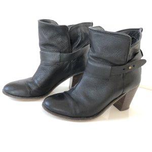 COX Stiefeletten Gr  37 schwarz Leder Boots Stiefel