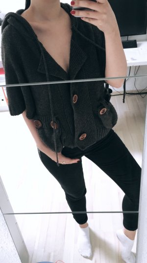 Knitted Top black brown-dark brown