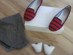 CP Charles Philip Shanghai Loafers Mokassins Slipper Slipons Streifen Wolle 40