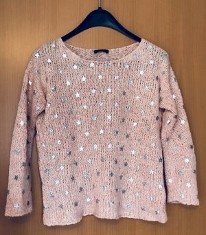 CPM the Collection! Knitted Sweater light grey-pink polyacrylic