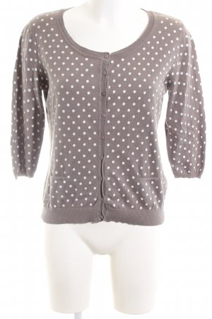 CPM the Collection! Cardigan brown-white spot pattern casual look