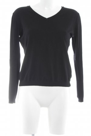 CPM the Collection! V-Ausschnitt-Pullover schwarz Casual-Look