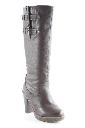 CPS High Heel Stiefel bronzefarben Casual-Look