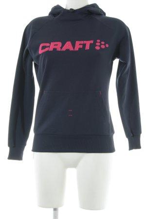 Craft Kapuzensweatshirt Schriftzug gestickt Casual-Look