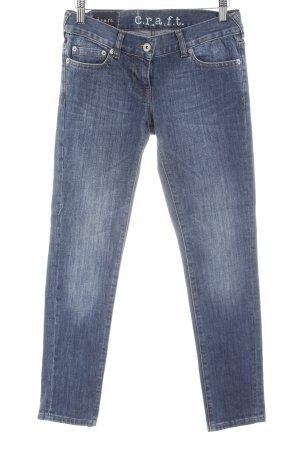 Craft Skinny jeans blauw kleurverloop casual uitstraling
