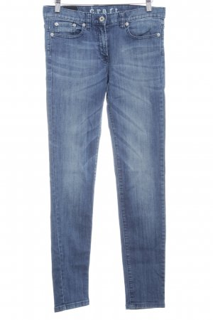 Craft Skinny Jeans steel blue flecked jeans look