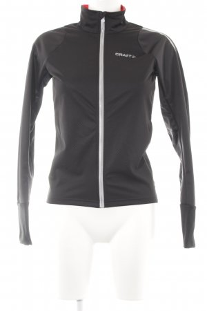 Craft Chaqueta softshell negro-color plata Apariencia de mezcla de materiales