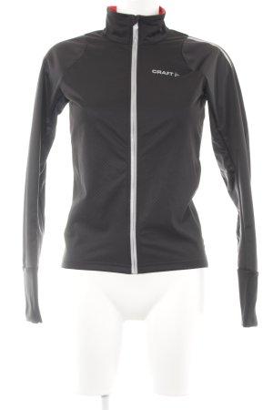 Craft Softshelljacke schwarz-silberfarben Materialmix-Look