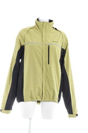 Craft Sports Jacket neon yellow-black athletic style