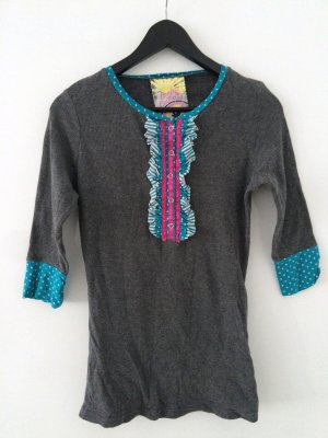Crafty Couture 3/4-ärmliges Shirt Grau
