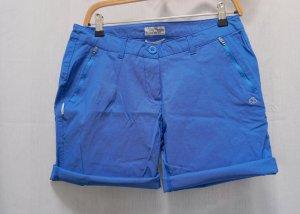 Short de sport bleu fluo