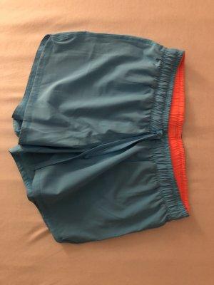 Crane Sporthose/ Shorts blau neonorange Größe 38