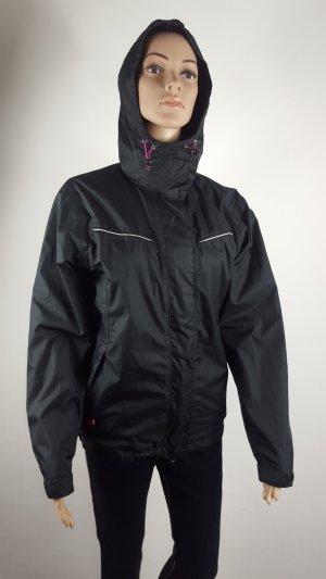Crane Sportjacke Windjacke mit Kapuze schwarz pink Größe 36/38