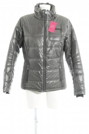 Crane Quilted Jacket silver-colored wet-look