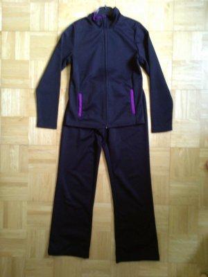 Crane Trainingsanzug Jogginganzug schwarz lila Gr. XS