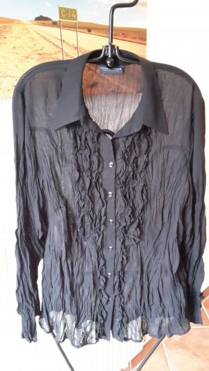 Your 6th Sense Blouse en crash noir