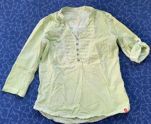 edc by Esprit Crash Blouse pale green cotton