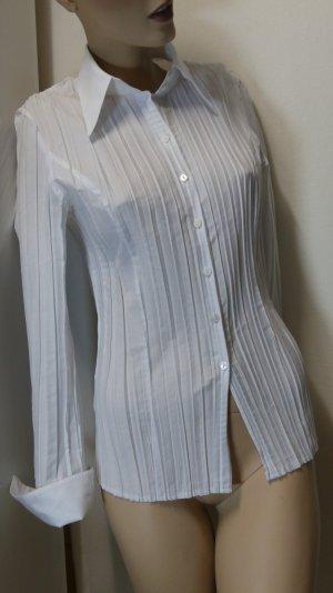 Madeleine Blouse-chemisier blanc tissu mixte