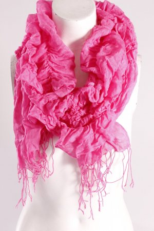 Crash-Schal mit Fransen pink