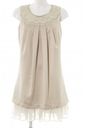 cravefame by almost famous Chiffon jurk beige glinsterend
