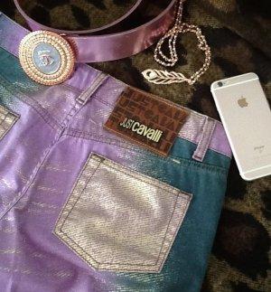 Crazy Just Cavalli, Jeans mit goldenen Glanz und Gürtel