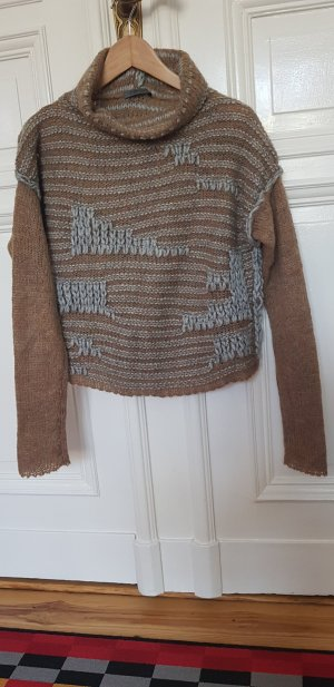 Crea Concept Maglione di lana grigio-marrone chiaro
