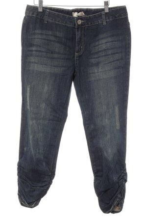 Cream 7/8 Jeans dunkelblau-beige Destroy-Optik