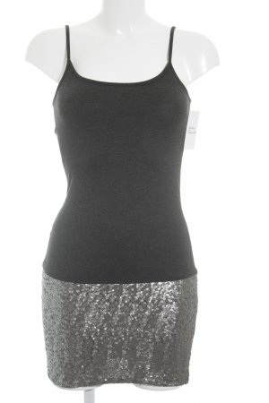 Cream Pencil Dress dark grey-silver-colored party style