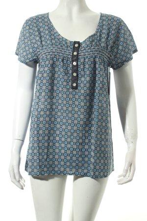 Cream Bluse kornblumenblau-dunkelblau grafisches Muster