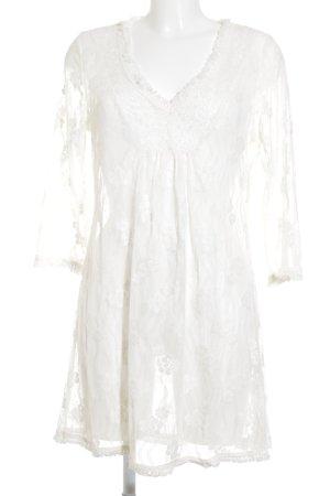 Cream Blusenkleid weiß schlichter Stil