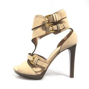 Cream Burberry High Heel