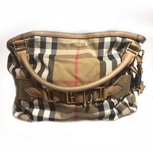 Cream Burberry Shoulder Bag