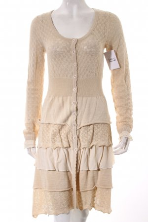Cream Cardigan hellbeige Romantik-Look