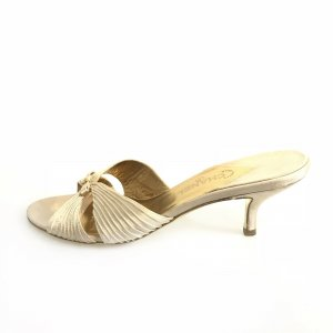 Cream Chanel Flip Flop