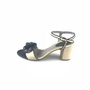 Cream Chanel High Heel