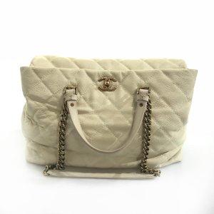 Cream Chanel Shoulder Bag