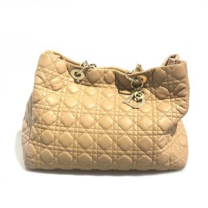 Cream Christian Dior Shoulder Bag