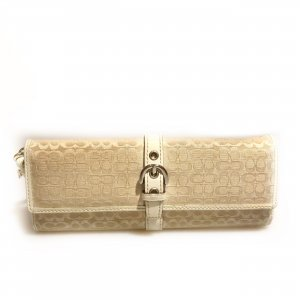 Cream Coach Clutch