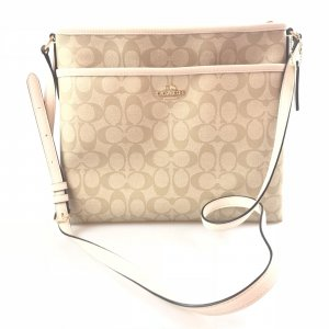 Cream Coach Cross Body Bag
