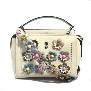Cream Fendi Shoulder Bag
