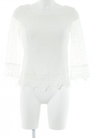 Cream Cardigan all'uncinetto bianco sporco stile romantico