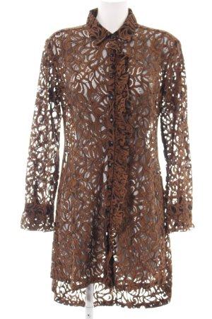 Cream Abito blusa camicia marrone elegante