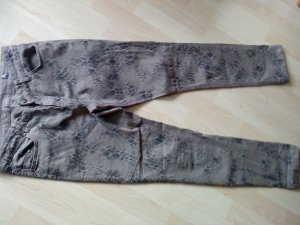 CREAM Hose grau/braun animalprint in 36