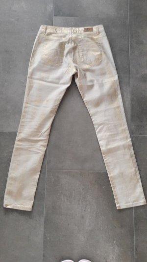 Cream Stretch jeans goud