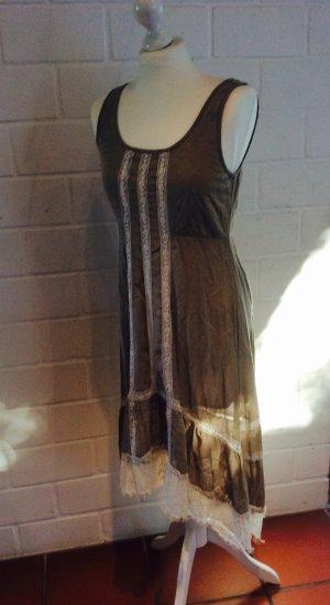 Cream Kleid 34/ XS Landhaus Stil Shabby Chic Vintage Look Spitze Midikleid