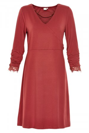 Cream Kleid M (eher L) 40/42 coral rost rot Spitze Viscose Jersey